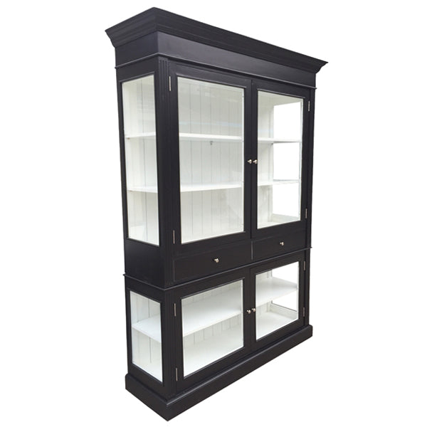Zanzibar Decorator Two Door Display Case Glass Front