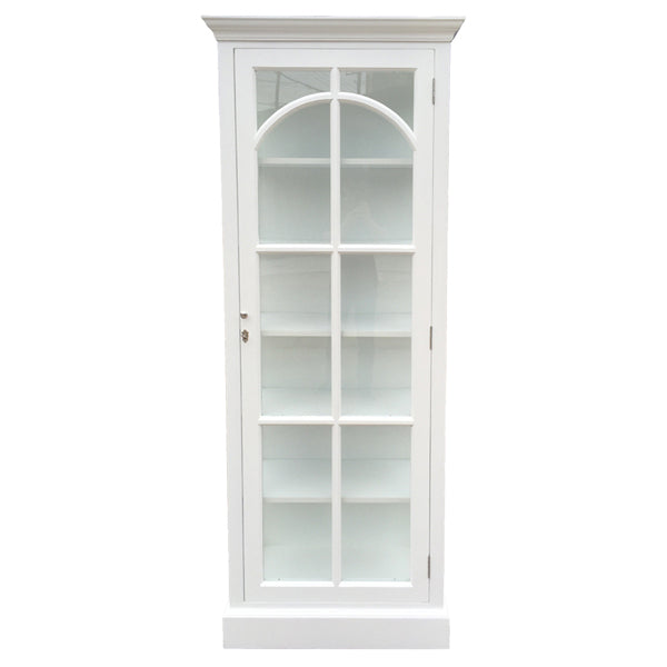 White St Germaine One Door Book/Display Case
