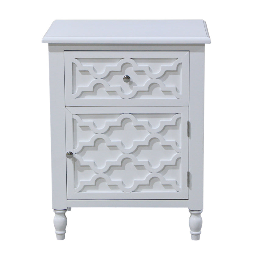 White Daintree Bedside Table
