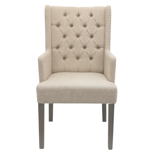Metropolitan's  Wing Tufted Back ArmChair
