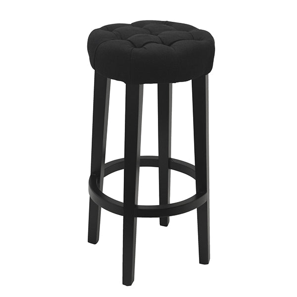 Thomas Breakfast Stool Black Linen