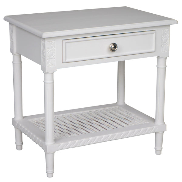 White Polo Side Table