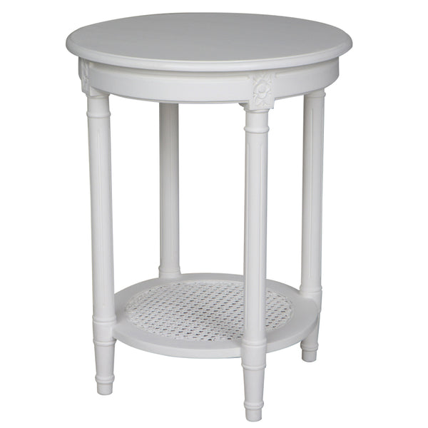 Round White Polo Side Table