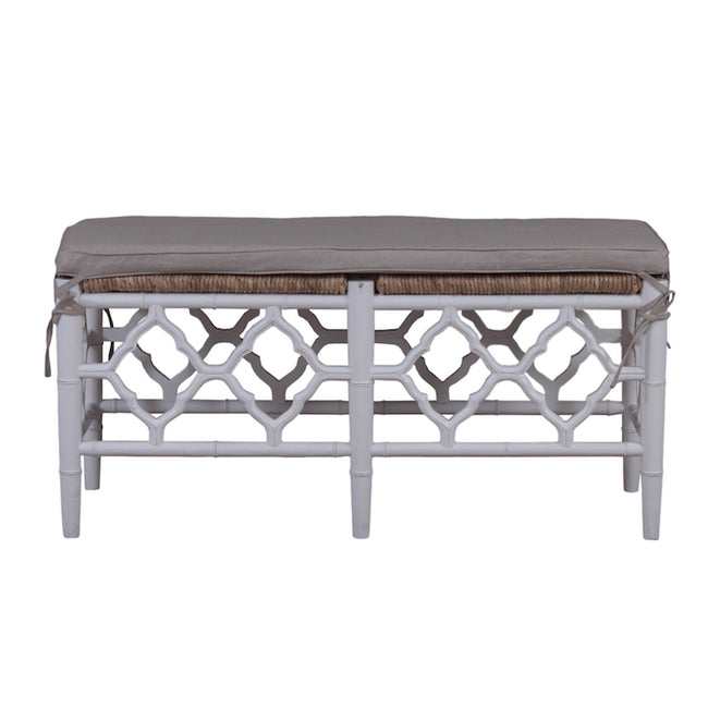 Handmade Marseille Bench In Architectural White Finish