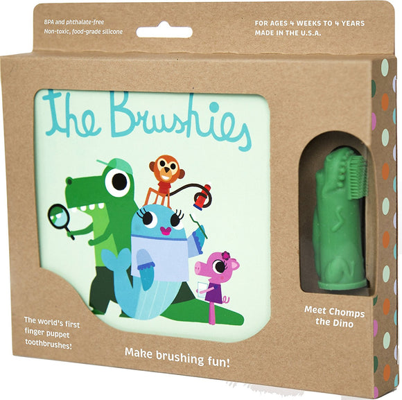 The Brushies Chomps the Dino Toothbrush and Storybook - eliaformat38