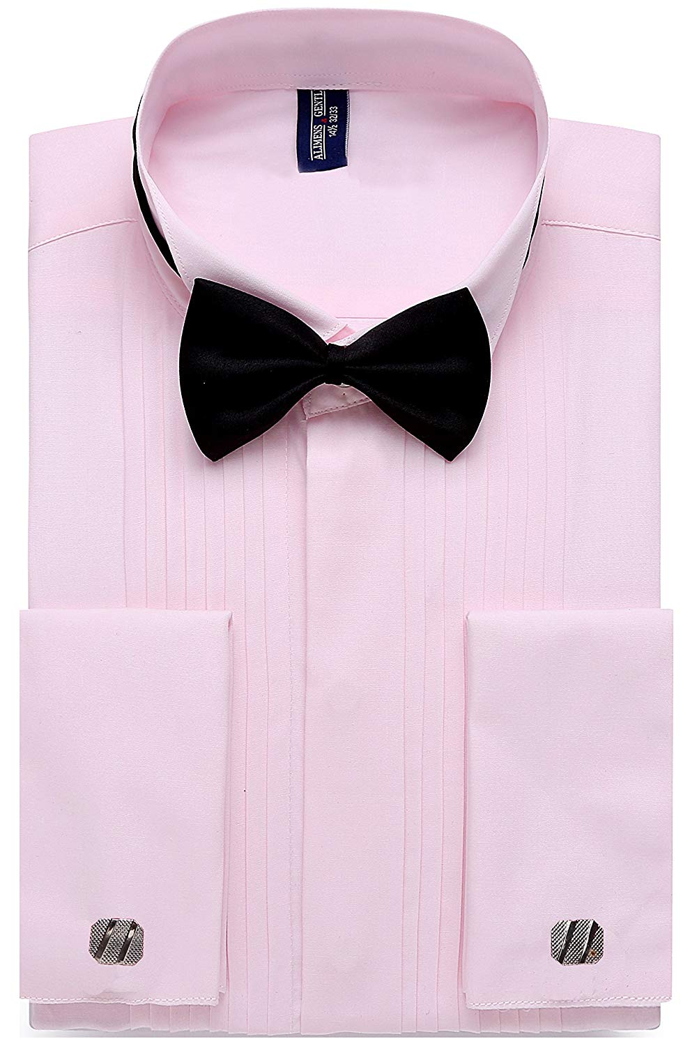 Shirtsformato45gentle Mens French Cuff Wing Collar Tuxedo Shirts