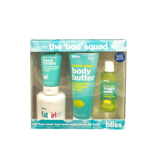 format30- Bliss The Bod Squad 4-piece Skin Care Kit
