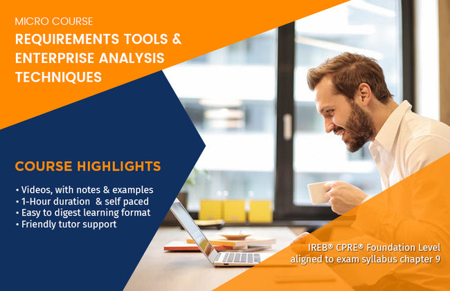 MICRO COURSE: REQUIREMENTS TOOLS & ENTERPRISE ANALYSIS TECHNIQUES