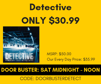 Sat Midnight - Noon Detective Only $30.99