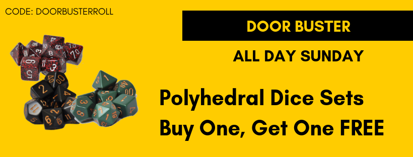 All Day Sunday Polyhedral Dice Buy One, Get One Free