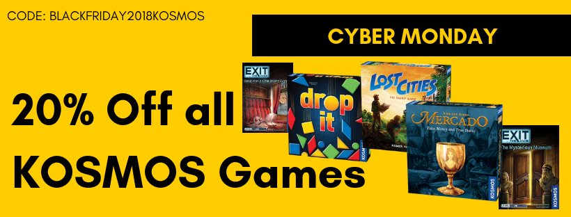 Cyber Monday 20% Off all KOSMOS Games