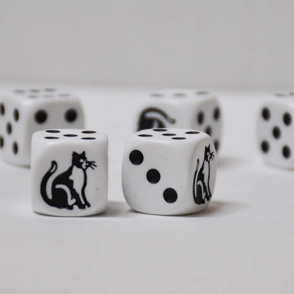 Set of Five Cat Dice