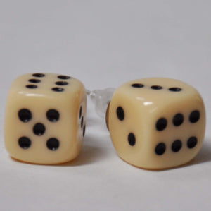Ivory Dice Earrings