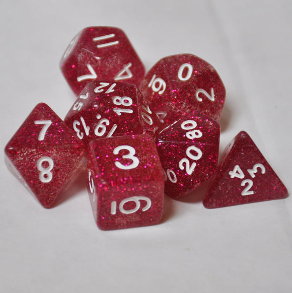 Koplow Games Purple Glitter Polyhedral Die Set