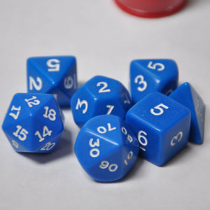 Koplow Games Opaque Blue Polyhedral Die Set