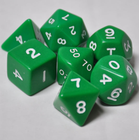 Koplow Games Opaque Green Polyhedral Die Set