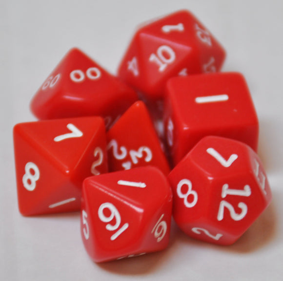 Koplow Games Opaque Red Polyhedral Die Set
