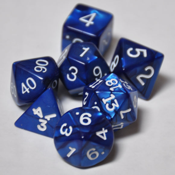 Koplow Games Navy Pearlized Polyhedral Die Set