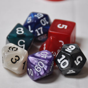 Koplow Games Assorted Pearlized Polyhedral Die Set