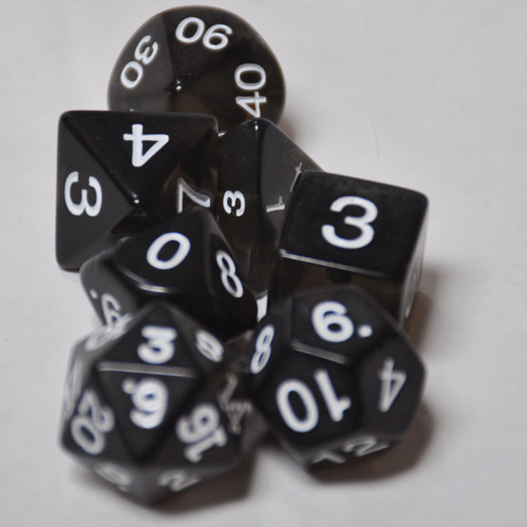 Koplow Games Smoke Transparent Polyhedral Die Set