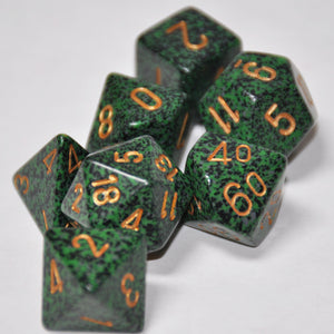 Koplow Games Elemental Golden Recon Polyhedral Die Set
