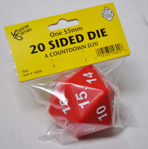 Koplow Giant Red 20-Sided Die