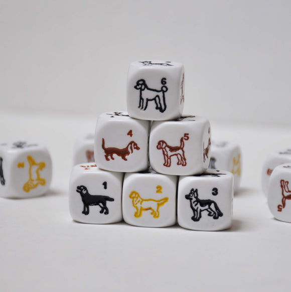 Set of Five Dog Dice