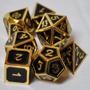 Black & Gold Metal Dice