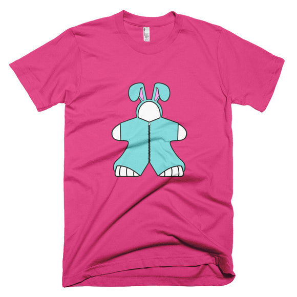 Blue Bunny Meeple Short-Sleeve T-Shirt