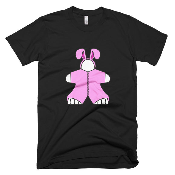 Pink Bunny Meeple Short-Sleeve T-Shirt