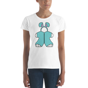 Blue Bunny Meeple Women's short sleeve t-shirt
