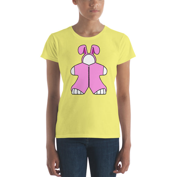 Pink Bunny Women's short sleeve t-shirt