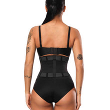 Load image into Gallery viewer, Women Trainer Waist Slimming Belt Waist Cincher Tummy Control Underbust Corset Waist Shaper Rubber Perforated Bodysuit