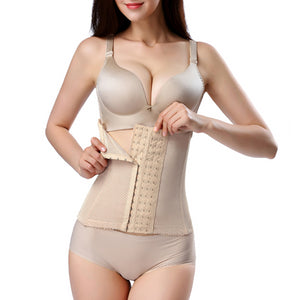 6 Hooks Waist Trainer Breathable Belly Band Women Shapewear Plus Size Corset Body 6XL