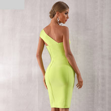 Load image into Gallery viewer, Summer One Shoulder Women Bandage Dress Sexy Sleeveless Bodycon Club Dress Vestido Celebrity Evening Party Dress