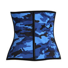 Load image into Gallery viewer, 9 Steel Bones Latex Body Waist Trainer Smoothing Camouflage Waist Cincher Corset Women Shapewear Waist Body Shaper