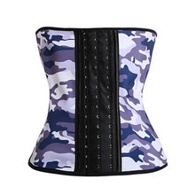 Load image into Gallery viewer, 9 Steel Bones Latex Body Waist Trainer Smoothing Camouflage Waist Corset Women