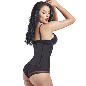 Breathable Latex Waist Cincher Corset Underbust Workout Waist Trainer Hollow Out Body Shaper Steel Boned Slim Belt