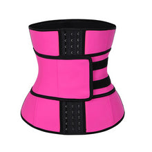 Load image into Gallery viewer, 4 Rows Hooks  Latex Waist Cincher Corset Underbust Body Fajas Sweat Waist Trainer Fitness Corset for Weight Loss