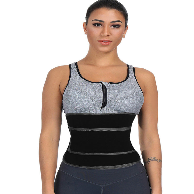 Neoprene Women Waist Trainer High Compression Girdle Waist Shape Corset  Sweat (Black M)