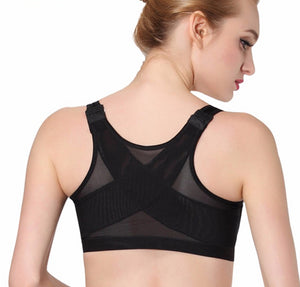 Sexy Bra Vest For Women Push Up Bra Three Hook-and-eye Bras Plus Size Top Women Padded Top Fitness Bra