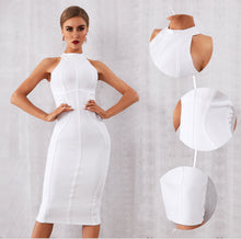 Load image into Gallery viewer, New Summer White Women Bandage Dress Vestidos Elegant Tank Sexy Sleeveless Bodycon Club Dresses Celebrity Party Dress