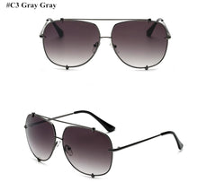 Load image into Gallery viewer, Fashion Oversized Pilot Sunglasses Women UV400 Retro Brand Designer Big Frame Sun Glasses For Female Ladies Eyewear