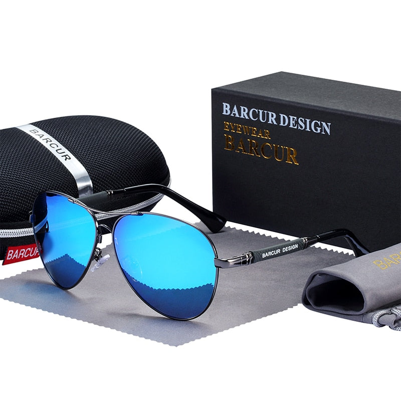 Titanium Alloy Sunglasses Polarized Men's Sun Glasses Women Pilot Gradient Eyewear Mirror Shades