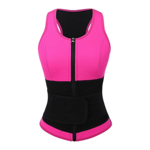 Plus Size Neoprene Waist Trainer Vest Sweat Sauna Body Shapers  Slimming Vest Shapewear Weight Loss Waist Shaper Corset