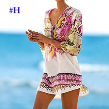 Load image into Gallery viewer, Plus size Chiffon Bohemian Strip Tunic for Beach Women Summer Holiday Loose Casual Dress