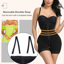 Load image into Gallery viewer, Plus Size Women Full Body Shapewear Underbust Slimming Mid thigh Shaper fajasTummy Control Seamless Postpartum Body Girdle