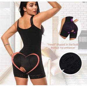 Clip and Zip Waist Lace Slimming Shaper Corset Control Shapewear Butt Lifter Strap Body Shaper Underwear Bodysuit Women