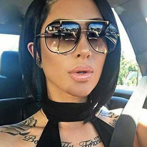 Fashion Oversized Pilot Sunglasses Women UV400 Retro Brand Designer Big Frame Sun Glasses For Female Ladies Eyewear