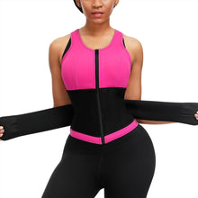 Load image into Gallery viewer, Plus Size Neoprene Waist Trainer Vest Sweat Sauna Body Shapers  Slimming Vest Shapewear Weight Loss Waist Shaper Corset